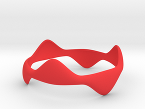 Tripod Bracelet in Red Processed Versatile Plastic