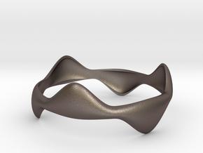 Tripod Bracelet in Polished Bronzed Silver Steel
