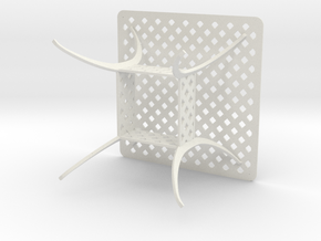 36x36 Beasketweave Table - Scale 1 To 12 in White Natural Versatile Plastic