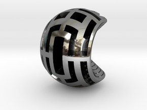 Multilayer Open Sphere Light,  HandHeld Toy. in Fine Detail Polished Silver
