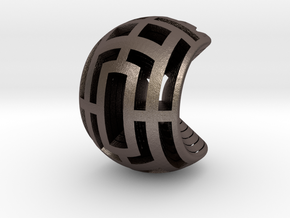 Multilayer Open Sphere Light,  HandHeld Toy. in Polished Bronzed Silver Steel