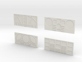 CP11 Flat Control Panels Design (28mm) in White Natural Versatile Plastic
