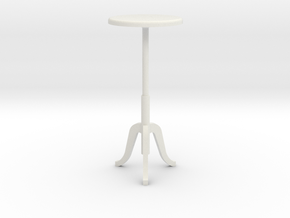1:24 Tall Stool in White Natural Versatile Plastic