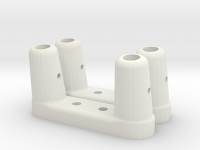 BP-8 Scratch bar brackets in White Natural Versatile Plastic