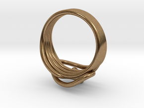 HeliX Love & Life Ring - Ring in Natural Brass