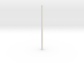 Fluted Rod 99mm in White Strong & Flexible