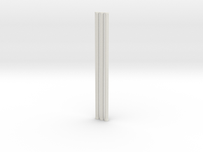 Fluted Rod 99mm X3 in White Strong & Flexible
