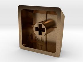 Blank Keycap (R1, 1x1) in Natural Brass