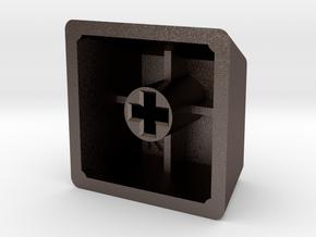 "GeekHack ""gh"" Keycap (R4, 1x1) in Polished Bronzed Silver Steel"