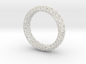 Cosma Silver Bangle in White Natural Versatile Plastic