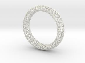 Cosma Silver Bangle in White Natural Versatile Plastic