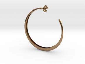 Hoop Earring in Natural Brass