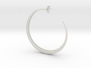 Hoop Earring in White Strong & Flexible