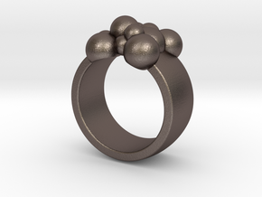 Spheres 14.9 mm in Polished Bronzed Silver Steel