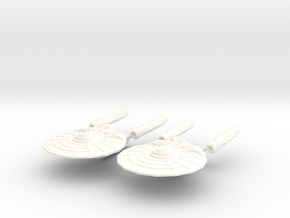 USS Gabriel  |  USS Haniel in White Processed Versatile Plastic