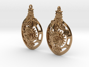 Botanika Mechanicum Earrings in Polished Brass