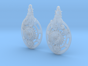 Botanika Mechanicum Earrings in Smooth Fine Detail Plastic