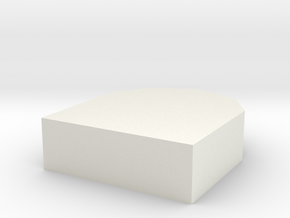 Gravestone in White Natural Versatile Plastic