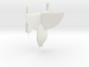 DarkDrake in White Natural Versatile Plastic