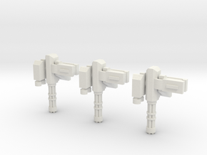 15mm Remote Gatling Gun (x3) in White Natural Versatile Plastic