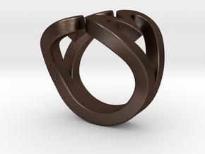 2Hearts Size 7 in Matte Bronze Steel