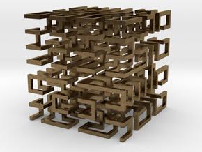 Hilbert Cube in Natural Bronze