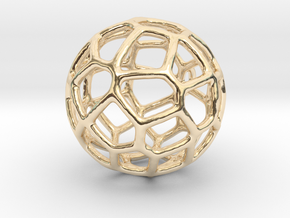 Organic Sphere Pendant in 14K Yellow Gold