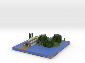 minecart train station in Full Color Sandstone