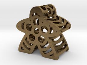 Flower Meeple in Natural Bronze
