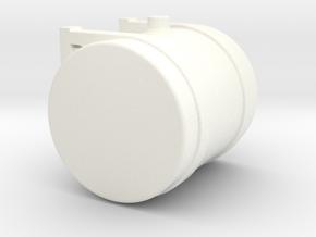 1/64th Scale 50 Gallon Hydraulic or fuel tank in White Processed Versatile Plastic