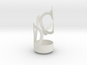 Hugs & Kisses Vase in White Natural Versatile Plastic