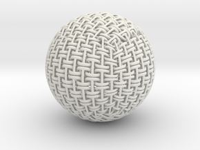 Flex Ball in White Natural Versatile Plastic