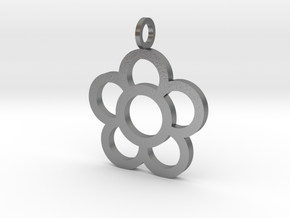 Flowers Pendant in Natural Silver