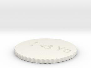 by kelecrea, engraved:   I  in White Natural Versatile Plastic