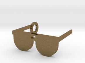 Sunglasses Pendant in Natural Bronze