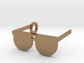 Sunglasses Pendant in Natural Brass