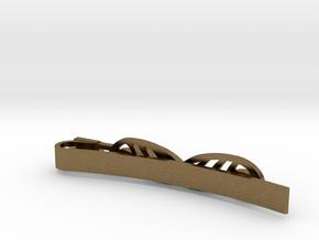 Mustache Tie Clip in Natural Bronze