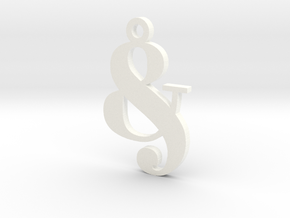 Andpersand in White Processed Versatile Plastic