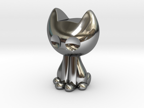 Kissa in Fine Detail Polished Silver