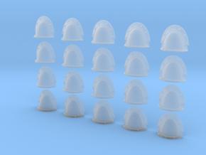 20 Custom Shoulder Pads Blank Rivet Crests in Smooth Fine Detail Plastic