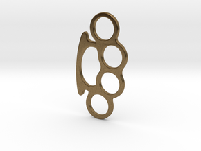 Knuckle Duster Key Ring in Natural Bronze