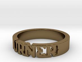 BlakOpal 'Burner' Cutout Band - Size 11 in Polished Bronze