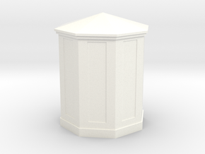 HO Scale (1/87) B&O Large Telephone Booth in White Processed Versatile Plastic