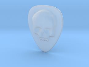 Skull Guitar Pick in Smooth Fine Detail Plastic