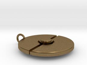 Pokeball Pendant in Natural Bronze