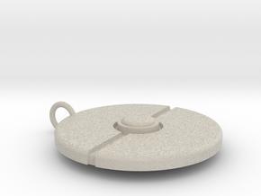 Pokeball Pendant in Natural Sandstone