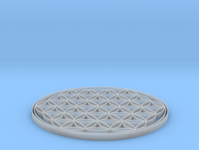 Flower of life coaster 100x4mm in Frosted Ultra Detail
