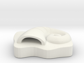 The Great Helix Fossil in White Natural Versatile Plastic