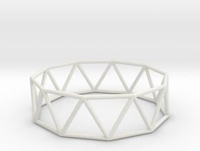 decagonal antiprism 70mm in White Natural Versatile Plastic