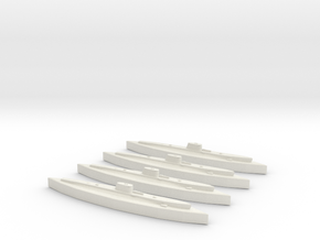 Axum (Adua class) 1:1800 x4 in White Natural Versatile Plastic